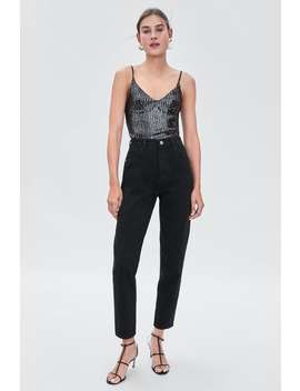 Sequin Cropped Top  View All T Shirts Trf by Zara