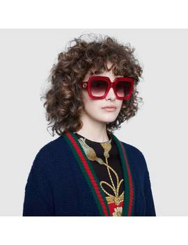 Square Frame Sunglasses by Gucci
