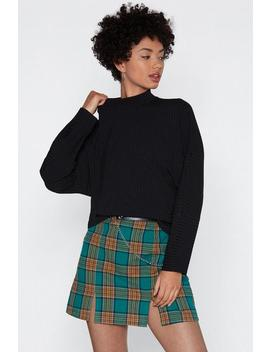 Rib It A Go High Neck Sweater by Nasty Gal