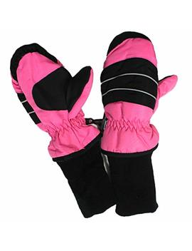 Insulated Winter Cold Weather Ski Gloves For Kids (Boys And Girls) Waterproof Windproof by I See Case