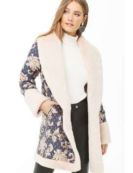 Floral Embroidered Coat by Forever 21