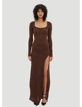 Dao Long Dress In Brown by Jacquemus