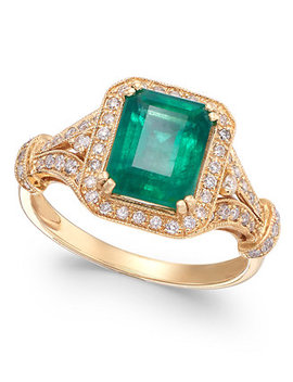 Brasilica By Effy® Emerald (2 1/5 Ct. T.W.) And Diamond (1/3 Ct. T.W.) Ring In 14k Gold, Created For Macy's by Effy Collection