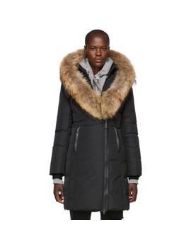 Black Kay Classic Down Coat by Mackage