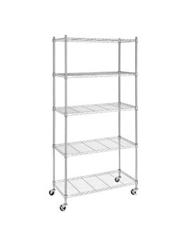 Whitmor Supreme 5 Tier Cart With Wheels Chrome by Whitmor