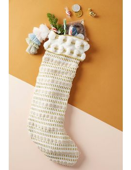 Merry And Bright Stocking by Anthropologie