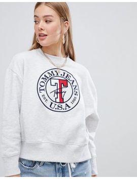 Tommy Jeans   Sweatshirt Met Rond Logo by Asos