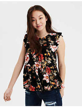 Ae Short Sleeve Shell Top by American Eagle Outfitters