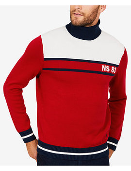 Men's Big & Tall Colorblocked Turtleneck Sweater by Nautica