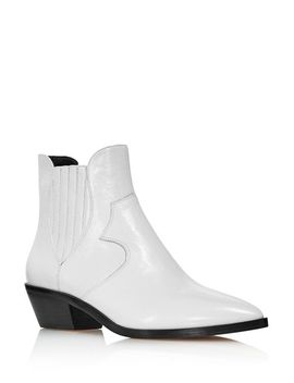 Women's Kaidienne Pointed Toe Leather Low Heel Booties   100 Percents Exclusive by Rebecca Minkoff