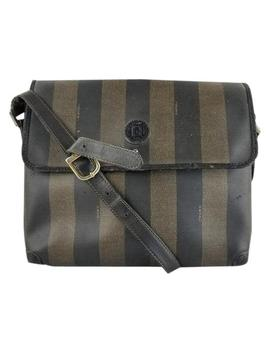 Flap Picotin Canvas Shoulder Bag by Fendi