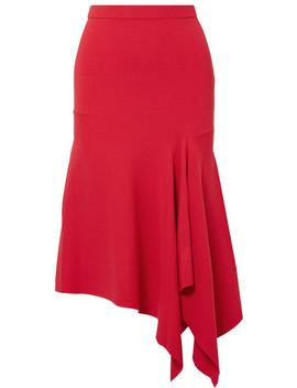 Asymmetric Stretch Ponte Midi Skirt by Jason Wu Grey