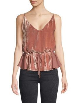 Lucy Mixed Media Velvet Camisole by J Brand