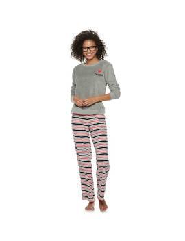 Juniors' So® 2 Piece Plush Pajama Set by Juniors' So