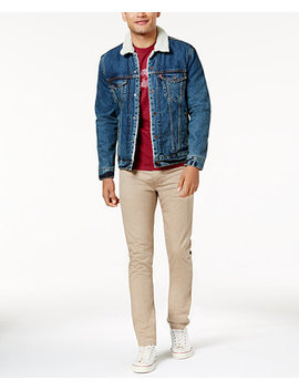 Men's Sherpa Trucker, Slim Taper Jeans & Batwing T Shirt by Levi's