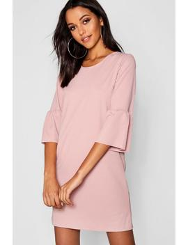 Frill Sleeve Dress by Boohoo
