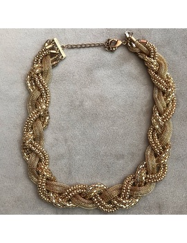 Gold Braided Necklace by Poshmark