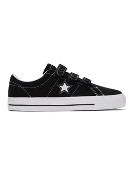 Black Suede One Star Pro Sneakers by Converse