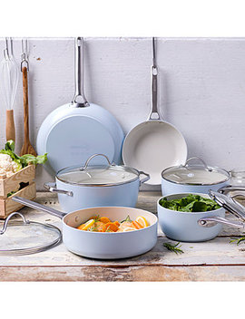 Padova 10 Pc. Ceramic Non Stick Cookware Set by Green Pan