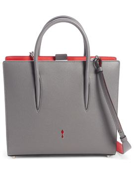 Medium Paloma Leather & Suede Tote by Christian Louboutin