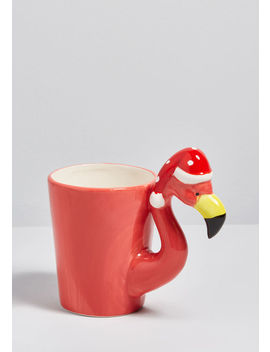 Festive Flamingo Ceramic Mug by Modcloth