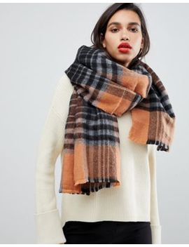 French Connection Check Scarf by French Connection