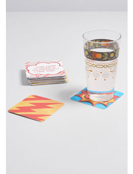 Imbibing In Action Comic Coaster Set by Modcloth