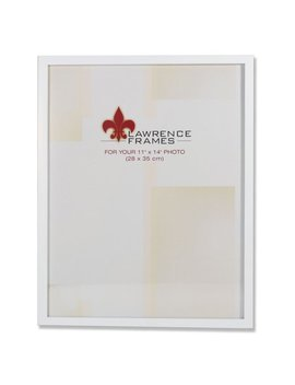 11x14 White Wood Picture Frame   Gallery Collection by Lawrence Frames