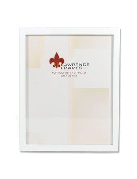 8x10 White Wood Picture Frame   Gallery Collection by Lawrence Frames
