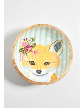 Charismatic Critter Wooden Fox Bowl by Karma Living