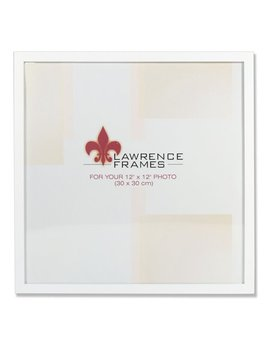 755812 White Wood 12x12 Picture Frame by Lawrence Frames