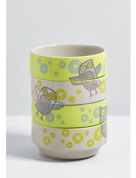Hoot's In The Kitchen? Stacking Bowl Set by Modcloth