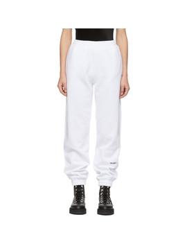 White 'msgm!' Lounge Pants by Msgm