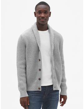 Ribbed Shawl Cardigan Sweater by Gap