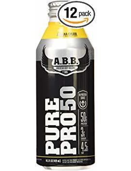 Abb Performance Pure Pro 50 Shake, Banana Cream, 14.5 Ounce Bottles (Pack Of 12) by Abb Performance