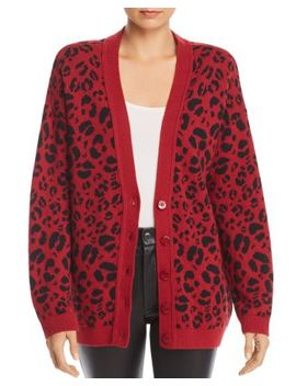 Justine Leopard Print Cardigan by Anine Bing