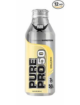 American Body Building Pure Pro 50, Vanilla Bean, 14.5 Ounce Bottles (Pack Of 12) by American Body Building