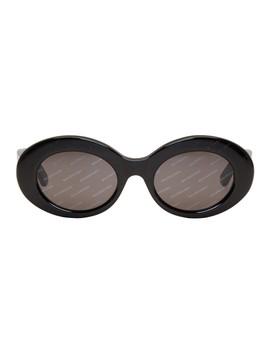 Black Logomania Sunglasses by Balenciaga