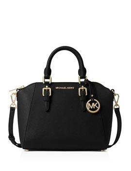 Ciara Medium Leather Messenger Bag by Michael Michael Kors