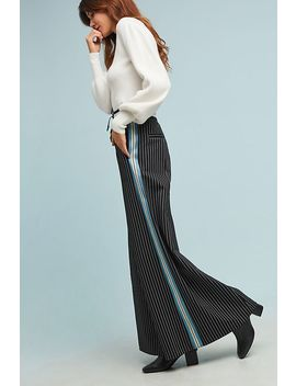 Byron Lars Pinstriped Wide Leg Pants by Byron Lars