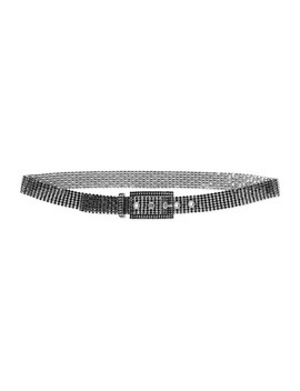 Silver Tone Crystal Belt by Miu Miu