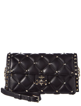 Valentino Candystud Leather Shoulder Bag by Valentino