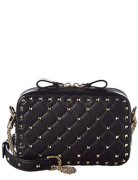 Valentino Rockstud Quilted Leather Shoulder Bag by Valentino