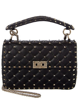 Valentino Rockstud Spike Medium Leather Shoulder Bag by Valentino