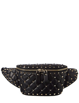 Valentino Rockstud Spike Leather Belt Bag by Valentino