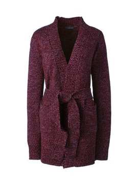 Women's Lofty Blend Tie Cardigan Sweater by Lands' End