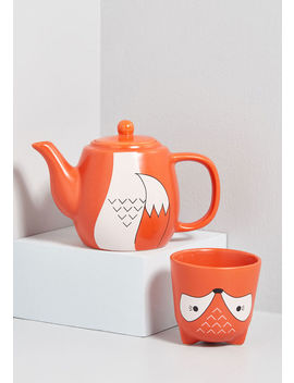 Feast Expected Teapot And Mug Set by Modcloth