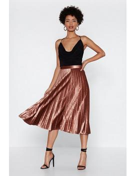 Let's Get Moving Velvet Skirt by Nasty Gal