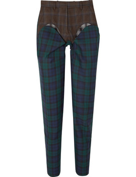 Paneled Plaid Wool Twill Straight Leg Pants by Y/Project