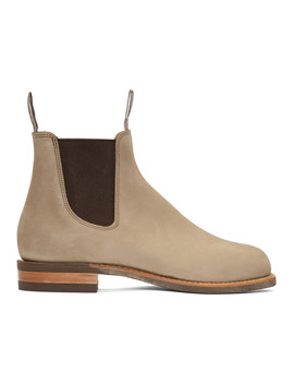 Beige Comfort Turnout Boots by R.M. Williams